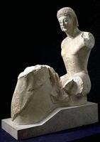 Всадник Рампена. Вторая половина 6 в. до н.э. Мрамор. Лувр, Париж