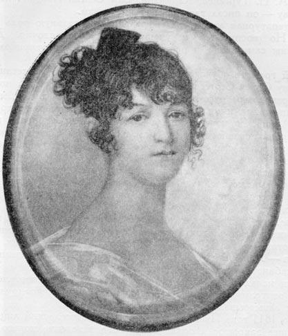 Н. О. Пушкина, мать поэта. Миниатюра работы Ксавье-де-Местра (1810 г.)
