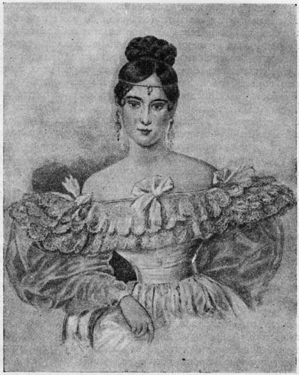 Н. Н. Пушкина. Акварель А. П. Брюллова (1831 г.)