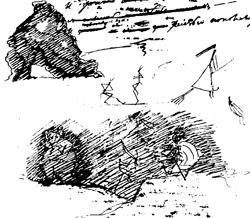 «Бесовский» рисунок Пушкина, 1827 г.