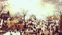 Зимняя сцена в окрестностях города (Хендрик Аверкамп)