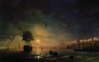 Вид Одессы в лунную ночь. Айвазовский И.К.