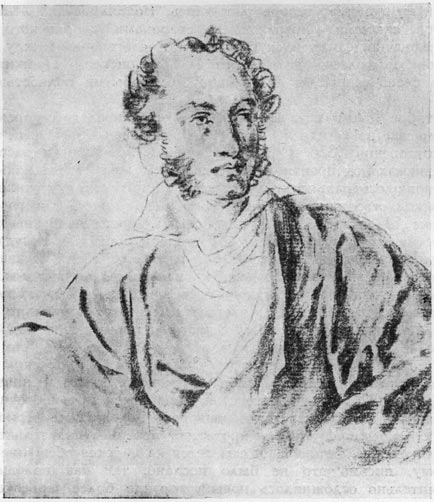 А. С. Пушкин. Рисунок В. А. Тропинина (1827 г.)