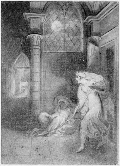 «Бахчисарайский фонтан». Зарема. Гравюра С. Галактионова (1827 г.)