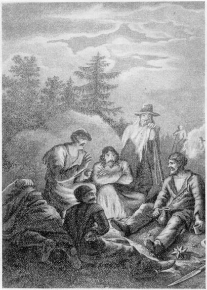 «Братья разбойники». Гравюра С. Галактионова (1825 г.)