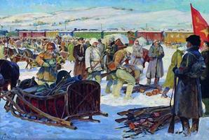 Разоружение частей Колчаковской армии (Авилов М.И. 1926 Центральный музей Вооруженных Сил)