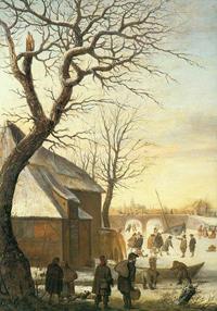 Зимний пейзаж (Хендрик Аверкамп)