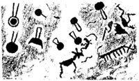 Наскальные изображения вблизи Онежского озера