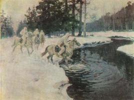 Конная разведка зимой (Авилов Михаил Иванович)