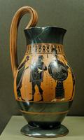Ольпа. Аттическая чернофигурная вазопись. 550—530 гг. до н.э. Лувр