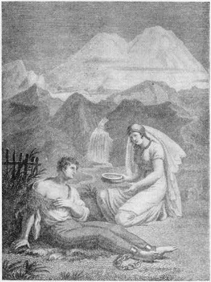 «Кавказский пленник». Рисунок М. Иванова. Гравюра С. Галактионова (1824 г.)