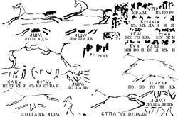 Скелетные рисунки лошадей (интерпритация Чудинова)