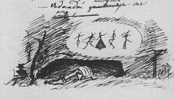Как труп в пустыне я лежал…, 1821 г