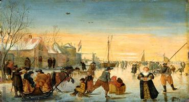 Катание на санях и коньках (Хендрик Аверкамп)
