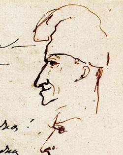 Портрет Вольтера в ночном колпаке