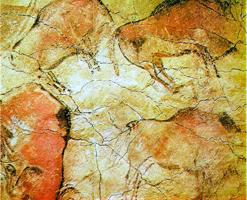 Изображения бизонов из пещеры Альтамира
